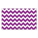 Chevron Purple Decal