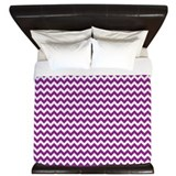 Chevron Purple King Duvet