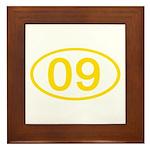 Number 09 Oval Framed Tile