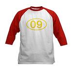 Number 09 Oval Kids Baseball Jersey