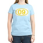 Number 09 Oval Women's Pink T-Shirt