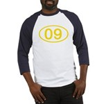 Number 09 Oval Baseball Jersey