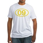 Number 09 Oval Fitted T-Shirt