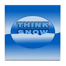 Think Snow Snowdrifts Tile Coaster