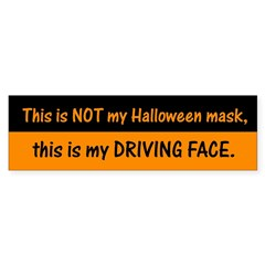 Drive Face Halloween Mask Bumper Sticker