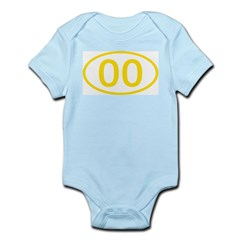Number 00 Oval Infant Bodysuit