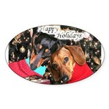 Happy Holidays Oval Decal