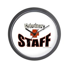 Veterinary Staff Wall Clock