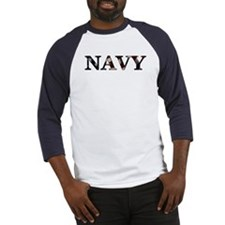 Navy (Flag) Baseball Jersey