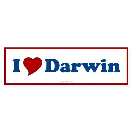I Love Darwin Bumper Sticker
