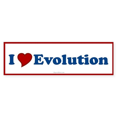 I Love Evolution Bumper Sticker