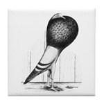 Swing Pouter Pigeon Tile Coaster
