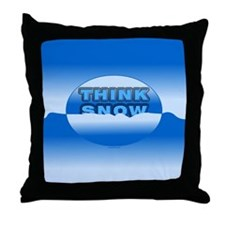 Think Snow Snowdrifts Throw Pillow