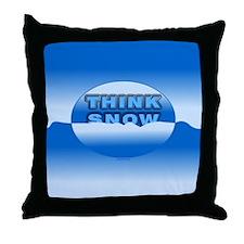 Think Snow Snowdrifts Throw Pillow