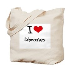I Love Libraries Tote Bag