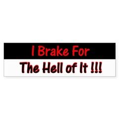 Hell of It Bumper Sticker
