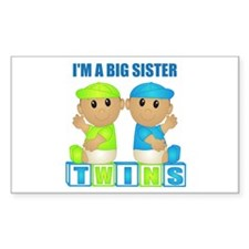 I'm A Big Sister (TBB:blk) Rectangle Decal