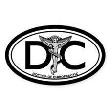 DC Oval Decal