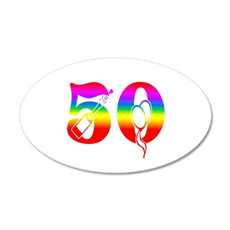 Fun rainbow 50 Wall Decal