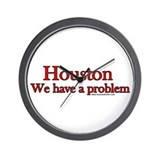 Houston We have a Problem Wall Clock