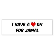 Heart on for Jamal Bumper Bumper Sticker