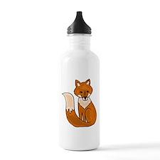 Red Fox Art Water Bottle