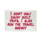 Mom Guilt Trips Travel Agency Rectangle Magnet
