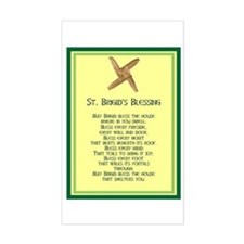 IRISH BLESSINGS- ST. BRIGID Rectangle Decal