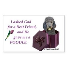 Poodle (Black) Rectangle Decal