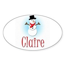 Snowman - Claire Oval Decal