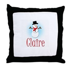 Snowman - Claire Throw Pillow