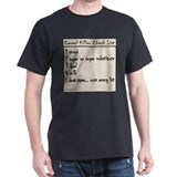 Cereal Killer Check List T-Shirt