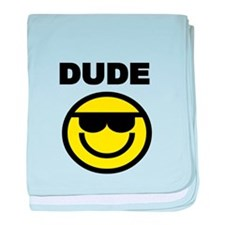 DUDE WITH SMILEY FACE baby blanket
