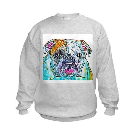 Bulldog in Color Kids Sweatshirt
