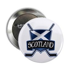 "Scottish Scotland Ice Hockey Shield 2.25"" Button ("