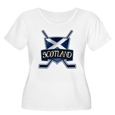 Scottish Scotland Ice Hockey Shield Plus Size T-Sh