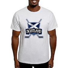 Scottish Scotland Ice Hockey Shield T-Shirt