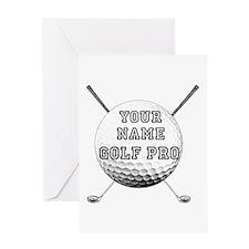 Custom Golf Pro Greeting Card