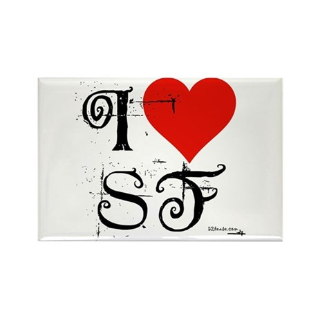 I Love SF-NY Loves You Rectangle Magnet