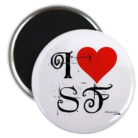 I Love SF-NY Loves You Magnet
