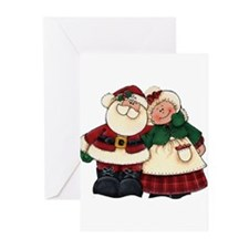 Mr. & Mrs. Claus Greeting Cards (Pk of 10)
