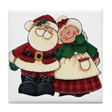 Mr. & Mrs. Claus Tile Coaster