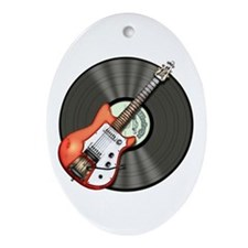 Vintage Guitar Ornament (Oval)