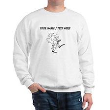 Custom Alien With Laser Gun Sweatshirt