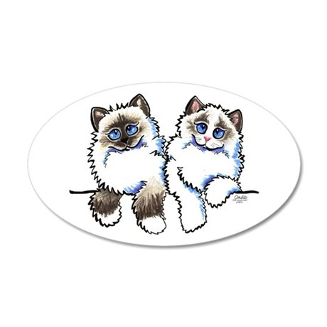 Ragdolls Pair Off-Leash Art™ Wall Decal