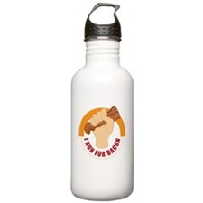 I Run For Bacon Water Bottle