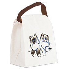 Ragdolls Pair Off-Leash Art™ Canvas Lunch Bag