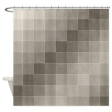 Gray Squares Shower Curtain