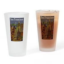 Vintage San Francisco Travel Drinking Glass