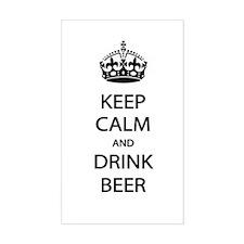 Keep Calm Drink Beer Decal
